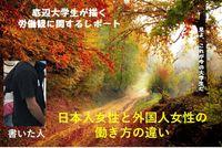 底辺大学生が描く労働観に関するレポート ~日本人女性と外国人女性の働き方の違い~