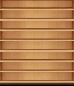 木目調 きせかえ本棚-電子書籍
