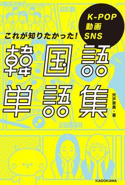 K-POP 動画 SNS これが知りたかった!韓国語単語集-電子書籍