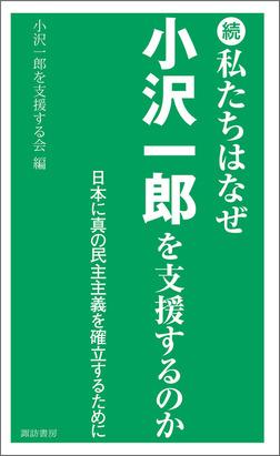 続 私たちはなぜ小沢一郎を支援するのか-電子書籍