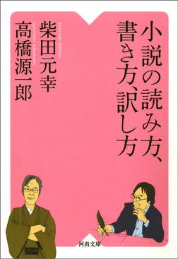 小説の読み方、書き方、訳し方-電子書籍