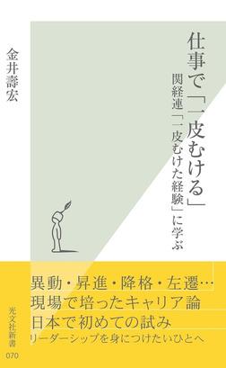 仕事で「一皮むける」~関経連「一皮むけた経験」に学ぶ~-電子書籍