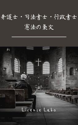 弁護士・司法書士・行政書士 憲法の条文-電子書籍