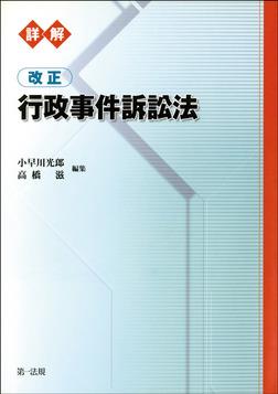 詳解 改正行政事件訴訟法-電子書籍
