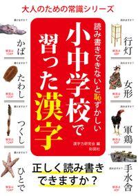 読み書きできないと恥ずかしい 小中学校で習った漢字(彩図社)