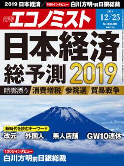 週刊エコノミスト (シュウカンエコノミスト) 2018年12月25日号-電子書籍