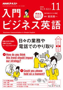 NHKラジオ 入門ビジネス英語 2018年11月号-電子書籍