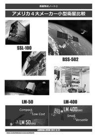 アメリカ4大メーカー小型衛星比較 電子Ver.