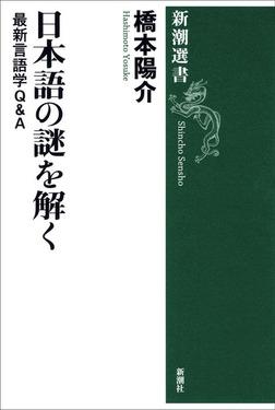 日本語の謎を解く―最新言語学Q&A―-電子書籍