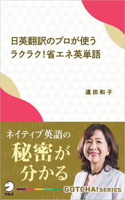 日英翻訳のプロが使う ラクラク!省エネ英単語~ネイティブ英語の秘密が分かる-電子書籍