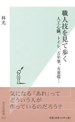 職人技を見て歩く~人工心臓、トイレ、万年筆、五重塔…~-電子書籍
