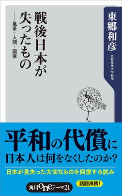 戦後日本が失ったもの 風景・人間・国家-電子書籍