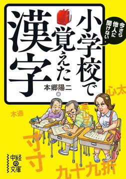 今さら他人に聞けない 小学校で覚えた漢字-電子書籍
