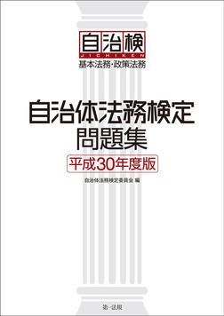 自治体法務検定問題集 平成30年度版-電子書籍