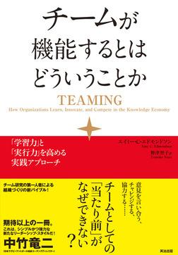 チームが機能するとはどういうことか ― 「学習力」と「実行力」を高める実践アプローチ-電子書籍