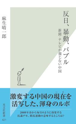反日、暴動、バブル~新聞・テレビが報じない中国~-電子書籍
