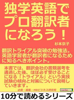 独学英語でプロ翻訳者になろう!翻訳トライアル突破の勉強法。英語学習者が翻訳者になるために知るべきポイント。-電子書籍
