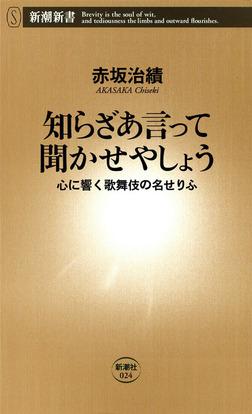 知らざあ言って聞かせやしょう―心に響く歌舞伎の名せりふ―-電子書籍