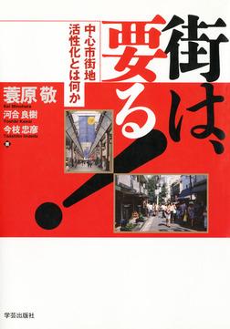 街は、要る! : 中心市街地活性化とは何か-電子書籍