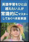 [単語リストDL付]英語学習をひと山越えたい人が常識的にマスターしておくべき英単語(リスニング前に)