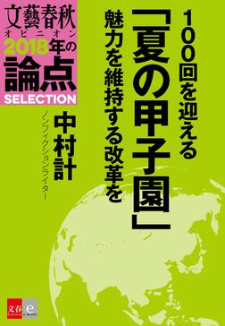 100回を迎える「夏の甲子園」 魅力を維持する改革を【文春オピニオン 2018年の論点SELECTION】-電子書籍