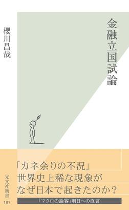 金融立国試論-電子書籍
